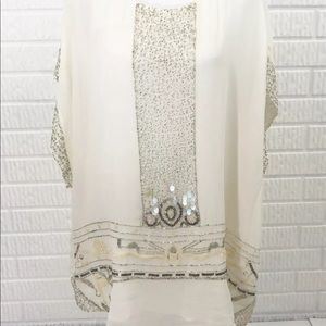 Anthropologie TINY Beaded Blouse L